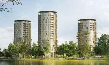 Drie woontorens in 's-Hertogenbosch