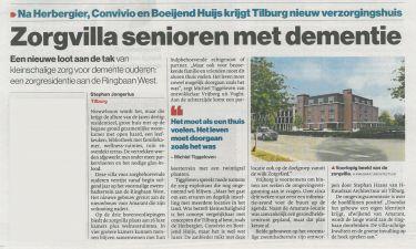 Nieuwbouw zorgvilla te Tilburg